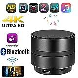 HUWAI Cámara espía Oculta Visión Nocturna Cámara WiFi/Altavoz Bluetooth - Grabadora de cámara espía 1080P HD Oculta 4K