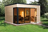 Blockbohlenhaus Cubilis - Ausführung: Gr, 2, Variante: naturbelassen, Außenmaß: 380 x 380, Umb, Raum: 33,0 m³