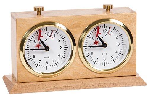 BHB Special Exclusive Reloj de Ajedrez Analógico Mecánico Caoba claro
