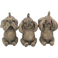 Nemesis Now Three Wise Elephants  Figurine 16cm Grey