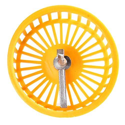 Fliesen-Lochsäge, Keramik, kreisförmig, Fliesenlochöffner, professionell, verstellbar, 40-100 mm, Kreis, Fliesenschneider, Lochsäge mit Schutzabdeckung, gelb