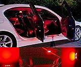 AudiA4Cabriolet8H7,B6,8HE,B7 Innenraumbeleuchtung Set - Farbe ROT / RED mit Check Widerstand, moderne Look & intensive Leuchtkraft, Plug & Play Einbau, Innenraum Umrüstsatz von Marke INION®