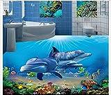 Chlwx 3D-Pvc Boden Malerei Custom Wandbild Tapeten Neue 3D Unterwasser Bad Wandbilder Schönheit Home Decoration 300Cmx200Cm