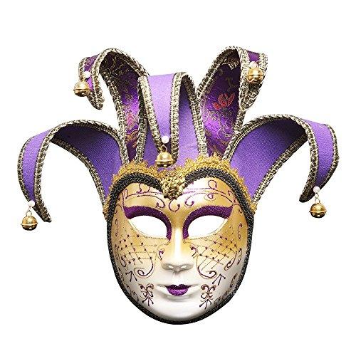 HBWJSH Halloween Ball Party Maske Weihnachten kreative neue Full Face Make-up Maske (Farbe : Purple)