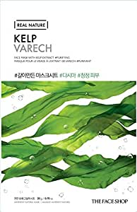 The Faceshop Real Nature Kelp Face Mask, 20g