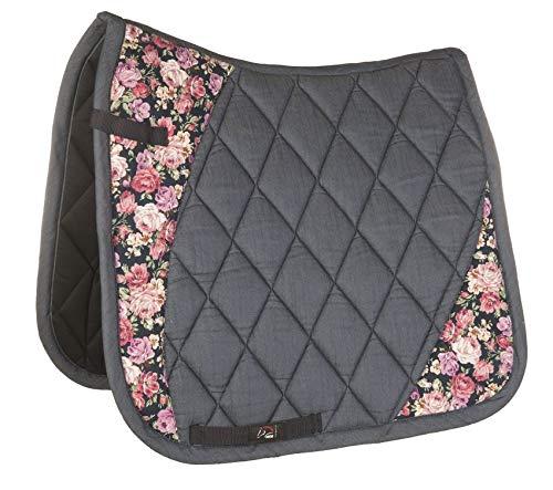 HKM Schabracke -Flower- Style, Jeansblau, Pony Dressur