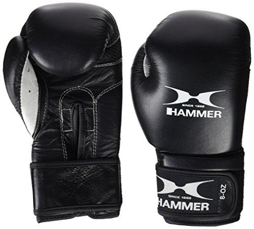 Hammer Premium Fitness Guanti Boxe, Nero (Schwarz), 14 Oz