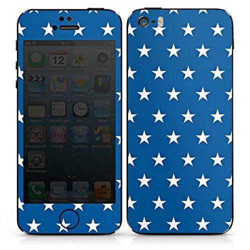 Apple iPhone 5 Case Skin Sticker aus Vinyl-Folie Aufkleber Sterne Marine Blau DesignSkins® glänzend