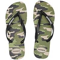 Havaianas Men's Top Camo Sandal, beige/black, 43/44 M BR (11/12 US)