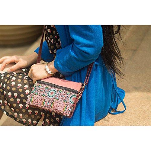 IshowStore, Borsa a spalla donna Orange Pink