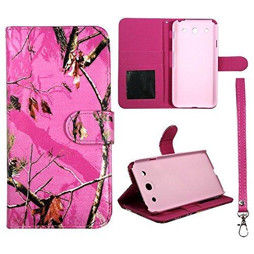 PU (Poly) Synthetik Leder pink Mapple Camo Kiefer LG Optimus G Pro E980Flip Wallet Kreditkarte Halterung ID Tasche Schutzhülle Hard Case Sony Fällen Gummierte Touch Displayschutzfolie Blenden