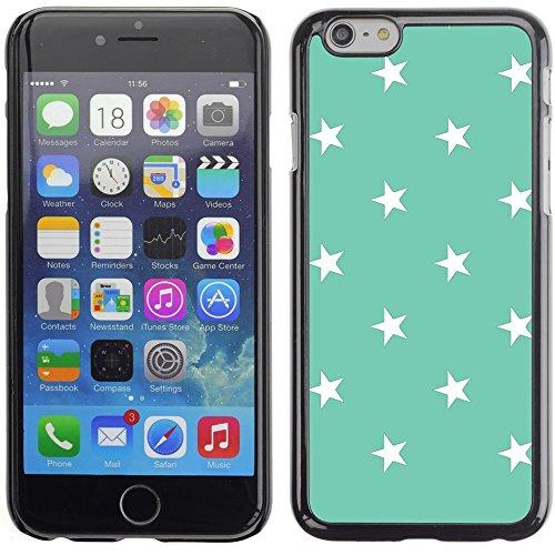 Graphic4You Sterne Muster Design Harte Hülle Case Tasche Schutzhülle für Apple iPhone 6 Plus / 6S Plus (Aqua Blau) Aqua Blau
