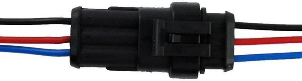 1 Broches 1Pcs Qiorange 1 Kit 1 broche voiture de fa/çon automatique /étanche connecteur /électrique kit de prise de courant avec du fil AWG de calibre marin