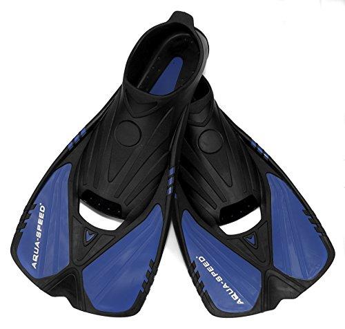 AQUA-SPEED Flossen Trainingsflossen Schwimmflossen Tauchflossen kurz ACTION, blau 11, 38/39