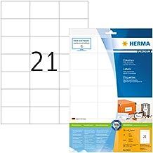 Herma 8634 Premium Adressetiketten (70 x 42,3mm) weiß, 210 Adressaufkleber, 10 Blatt A4 Papier matt, bedruckbar, selbstklebend, Internetmarke