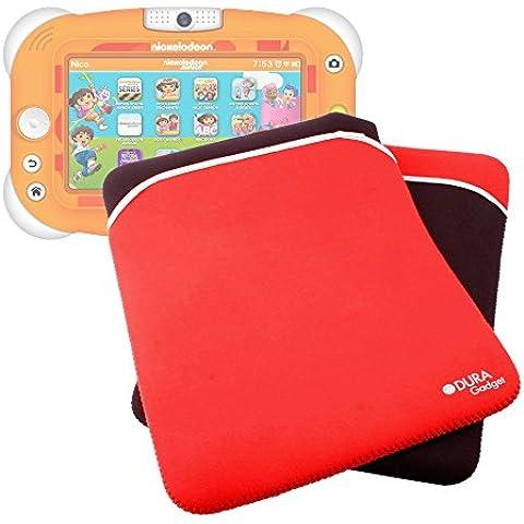 DURAGADGET Funda De Neopreno Reversible Para Tablet Videojet Nickelodeon - Roja y Negra