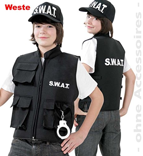 er-kostüm SWAT Weste Spezialeinheit Police Officer Security (152) ()
