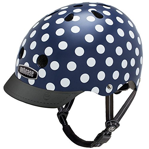 Nutcase Street - Navy Dots Helm, Mehrfarbig, Taille : S