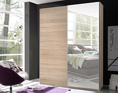 Schwebetürenschrank 'VICTOR 2' Kleiderschrank Schrank Schlafzimmer Eiche Sonoma Spiegel 170cm