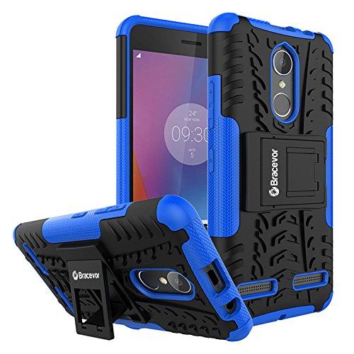 Bracevor Shockproof Lenovo k6 power Hybrid Kickstand Back Case Defender Cover - Blue