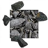 25 kg Basaltsplitt Anthrazit Gartensplitt Ziersplitt Deko Marmor Dekoration Splitt Körnung 32/56 mm