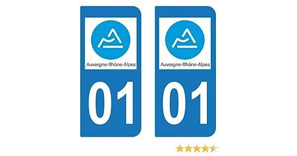 supstick 2 STICKERS AUTOCOLLANT PLAQUE IMMATRICULATION DEPT 43 Auvergne-Rh/ône-Alpes