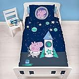 Peppa Pig - Juego de Funda de edredón y Funda de Almohada para niños, diseño