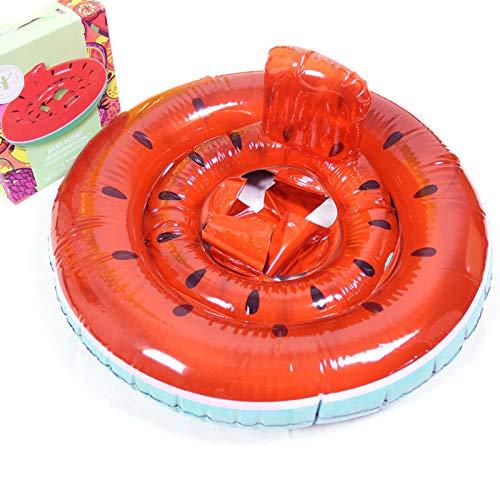YHYZ Schwimmringe aufblasbare auslaufsichere weiße Schwan Flamingo Kindersitz Schwimmbad Strand schwimmende Spielzeug für 8-48 Monate Baby, Wassermelone Sitz geeignet