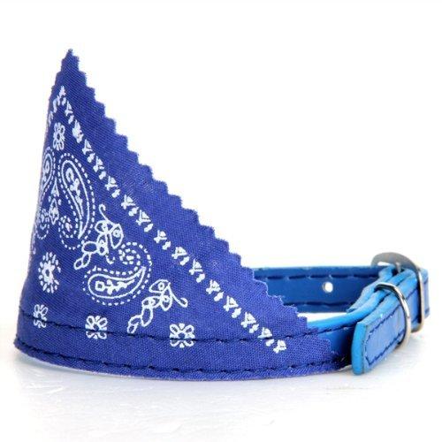 Collar Pañuelo Bandana Ajustable para Perro Gato Mascota Azul