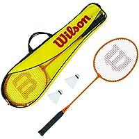 Wilson Set de bádminton Unisex: Raqueta, Pelota, Bolsa, WRT8755003, Amarillo/Naranja