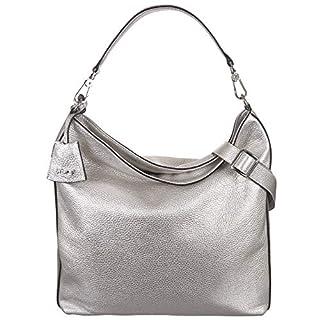 abro Beuteltasche Shimmer Leder in Silver ab-28194-18-70