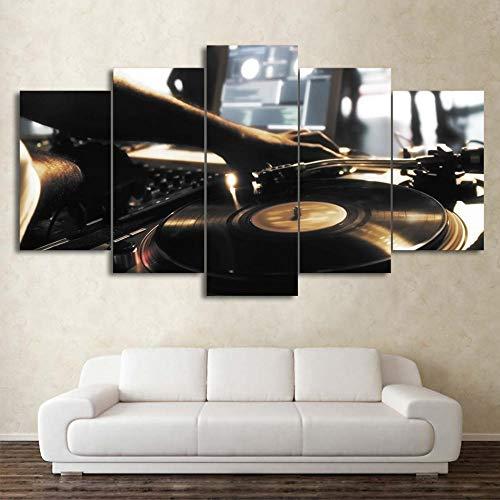 ahmen Modulare Wand Kunstdruck Malerei Beliebte Bild 5 Panel Spielen Musik Für Wohnzimmer Dekoration Poster-12x16/24/32inch,With frame ()
