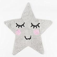 Sass & Belle Dulces Sueños - Alfombra, diseño estrella, color gris