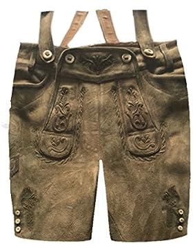 Herren Trachten Lederhose Trachtenlederhose Kurze Tracht Braun Gr.52#24