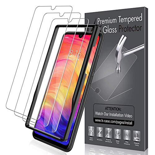 LK [3 Stück] Schutzfolie für Xiaomi Redmi Note 7 Panzerglas (6.3 Zoll), Xiaomi Redmi Note 7 Panzerglasfolie/Note 7 Pro Panzerfolie, HD Klar Gehärtetem Glas Displayschutzfolie Klar 7