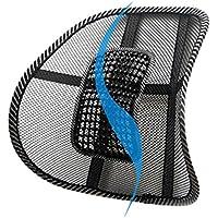 JUNERAIN Mesh Lumbar Back Brace Support Oficina Home Car Seat Chair Cojín Cool