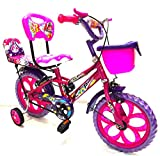 #9: Loop Kids 14 Inches Pink Blue Bike For 3-6 Years Unisex With Side Wheels