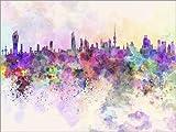 Posterlounge Forex-Platte 130 x 100 cm: Kuwait-Stadt Skyline von Editors Choice