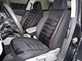 Sitzbezüge k-maniac | Universal Schwarz Rot | Autositzbezüge Set Komplett | Autozubehör Innenraum | Auto Zubehör für Frauen und Männer | No. 4A | Kfz Tuning | Sitzbezug | Sitzschoner