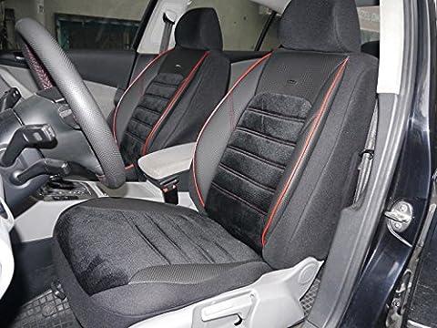 Sitzbezüge Schonbezüge für Jeep Wrangler III No4 schwarz-rot komplett