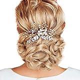 Li-ly Brides Fille 's Peigne en Cristal de Perle Pince à Cheveux Doux Bande de tête de Mariage Accessoires de Cheveux de mariée pour Les pièces de Cheveux Silber Haute qualité