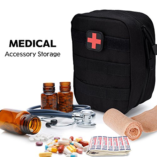 51tCUGfj8gL - Bolsa de botiquín de Primeros Auxilios Bolsa de botiquín de Primeros Auxilios Bolsa de Utilidad médica para el Lugar de Trabajo en el hogar Camping Viajes(Black)