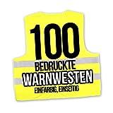 Korntex Warnwesten Sicherheitswesten bedrucken mit eigenem Logo 1farbig 100 Stück