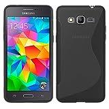 Samsung Galaxy Grand Prime - TPU Schutzhülle S-Style S Design Case Schutz Cover Etui Hülle in Grau - RT-Trading