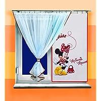 "Cortina de gasa de Disney Minnie & Tieback Set, ancho 300cm/118""X Drop 150cm/59"""