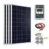 Giosolar 400Watt Hohe Effizienz Polykristalline Solar Panel mit 40A MPPT Solarladeregler LCD für Wohnmobil, Wohnwagen, Wohnmobil, Boot/Yacht
