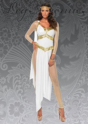Deluxe goldenes griechisches Göttin-Kostüm der Frauen S (UK 8-10)