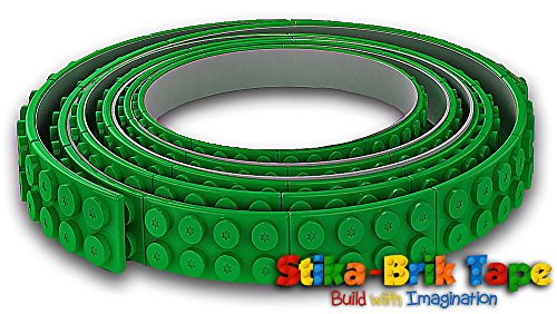 green-stika-brik-lego-tape-roller-with-self-adhesive-back-for-walls-ceiling-tables-desks-more-hassle
