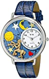 Whimsical Watches Unisex U1810010 Sagittarius Royal Blue Leather Watch best price on Amazon @ Rs. 1658