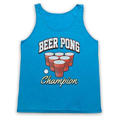 Beer Pong Champion Tank-Top Weste Neon Blau